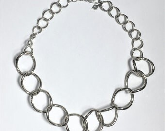 60% OFF 60's Twisted Circle Chains- Sterling Silver
