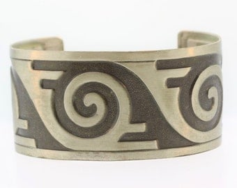 50% OFF Aztec Tribal  Inspired Cuff Bracelet- Sterling Silver