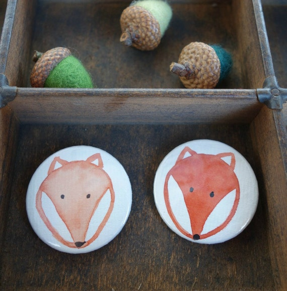 Zwei Fuchs-Buttons im Set  (003)