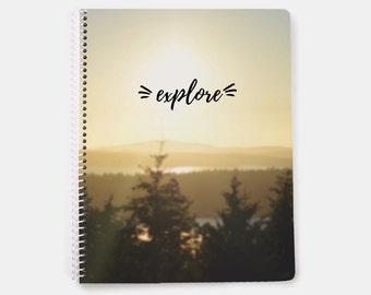 Explore Notebook - travel - 2017 travel journal - travel notebook - travel log - explore journal - vacation journal - hiking journal