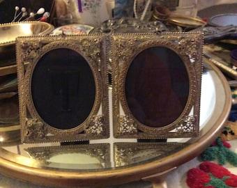Vintage frame, brass frame, filigree frame, antique frame