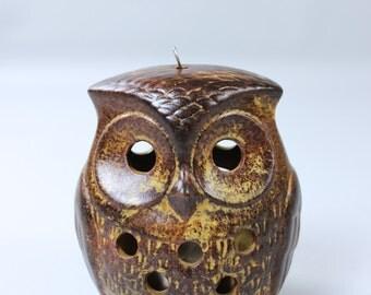 Vintage OWL ceramic OWL Lantern tea light holder candle holder Germany