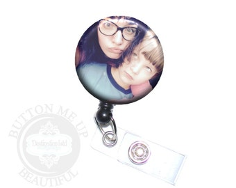 Photo Badge Reel - Your Custom Photograph, Image or Picture Retractable Nurse ID Lanyard Holder (A000)