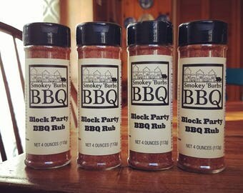 FLAT RATE Shipping 4-Pack of Block Party BBQ Rub