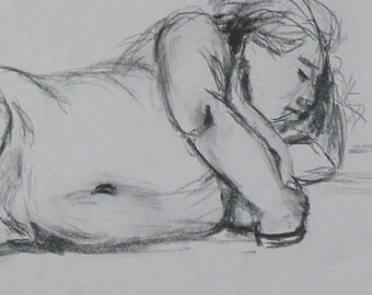 life drawing #28 - an original drawing by professional figurative artist Anita Dewitt