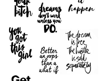 Ambition - Motivational Planner Stickers