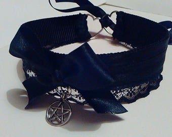 Black Pentagram Collar *Tug Proof*