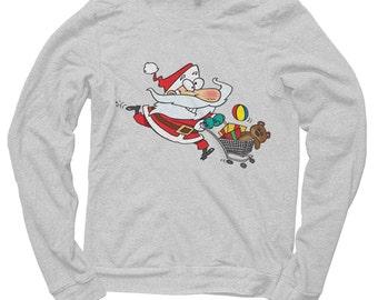 Santa shopping Christmas Sweatshirt / jumper
