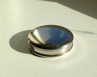 Silver Doll's miniature powder compact