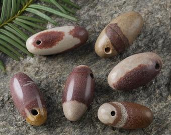 One Small SHIVA LINGAM Pendant Beads from India - JASPER Bead, Jasper Pendant, Healing Stone, Jasper Stone Pendant, Jasper Necklace E0198