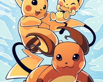 Pikachu Evolution Poster