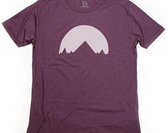 Ninus - Sunset in Mountains , Hand-printed Bamboo Men's T-Shirt