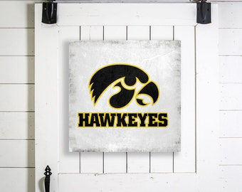Iowa hawkeye logo etsy for Iowa hawkeye decor