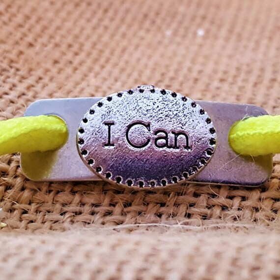 Shoe Lace Tags, Running Jewelry, Fun Shoe Tags, I Can Charms, CrossFit Gifts, Bicycle Shoe Charm, Sports Jewelry, Motivational Team Gifts