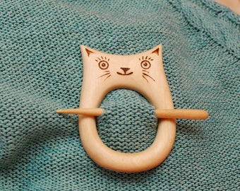 Wooden shawl pin, Shawl stick, Sweater clasp, Pullover pin, Scarf pin, Hair stick, stick barrette, hair barrette, hair accessories for women