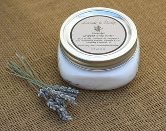 Shea Butter Lotion, Lavender, Whipped Body Butter, Natural Moisturizer, Homemade Lotion, Body Care