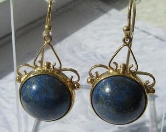 Lapis Lazuli, Lapis Lazuli Jewelry, Lapis Lazuli Earrings, Lapis Earrings,Earrings, Gold Dangle Earrings, Dangle Earrings, Drop Earrings
