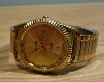 Vintage - Gruen Date and Calendar Quartz Movement Wrist Watch