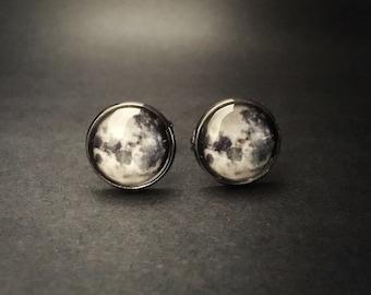 ON SALE Moon Cuff Links Full Moon Cufflinks Accessories - Full Moon Suit Accessory - Full Moon Cufflinks - Full Moon Cuff Links Moon Accesso