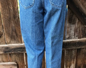 Vintage Lee jeans, size 27 waist, grunge jeans, mom jeans, 80s 90s Lee blue jeans, high waisted jeans, Lee riders womens, high waist jeans,