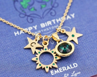 may birthstone | birthstone necklace | birthstone necklaces | birthstone jewelry | emerald | birthday card | happy birthday cards |G