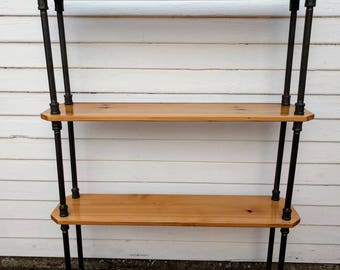 Modern Industrial Bookcase - 3.4 ft Tall