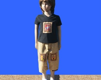 Boy's clothes - boy's clothing - size 1 boy - boy's outfit - boy's tshirt - boy's pants - kid's clothing - unique kid's clothes - pirates