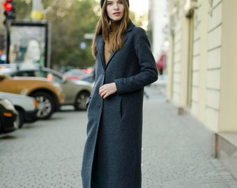 Blue woman coat spring and autumn coat