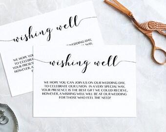 Wishing Well Card Wedding Insert Baby Shower Instant