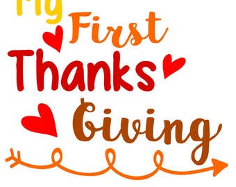 My first Thanksgiving Arrow,  SVG, dxf, pdf, png, eps,  Cuttable file, scrapbook, silhouette, circuit
