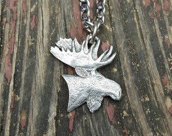 Bull Moose Pendant Necklace