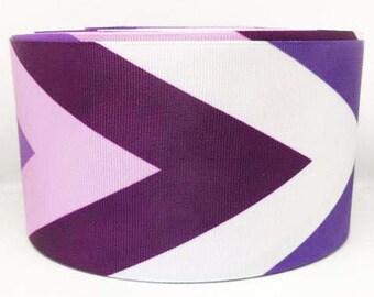 75mm 3 inch purple chevron grosgrain ribbon. Crafts-sewing-embellishments-cards-scrapbooking-cabochon-flatbacks-ribbon
