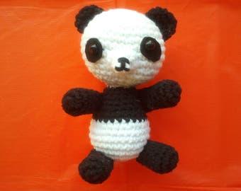 Crochet Panda, Panda Plush, Panda Stuffed Animal, Mini Panda, Panda Stuffed Toy,  Decorations Handbag, Panda teddy bear, amigurumi panda