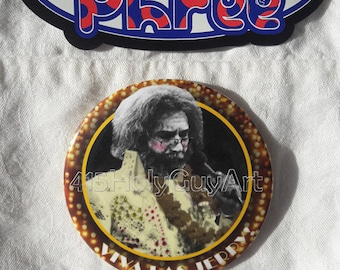 PHiSH Magnets Grateful Dead Magnets Hippy Magnets Jerry Garcia Magnet FREE SHIPPING