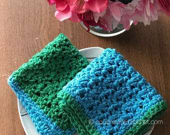 Cotton washcloth / Crochet Cloth / Cotton Wash Cloth / 100% cotton / Handmade Washcloth / Housewarming Gift / Bath Decor / Gifts / Dishcloth