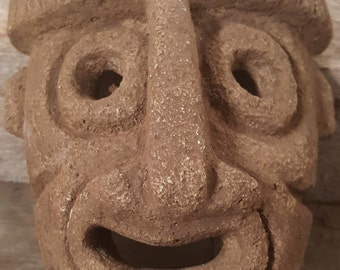 Vintage Mask Cement Cool Small shelf Face Mask