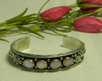 Sterling Silver Southwestern cuff Bracelet Signed L