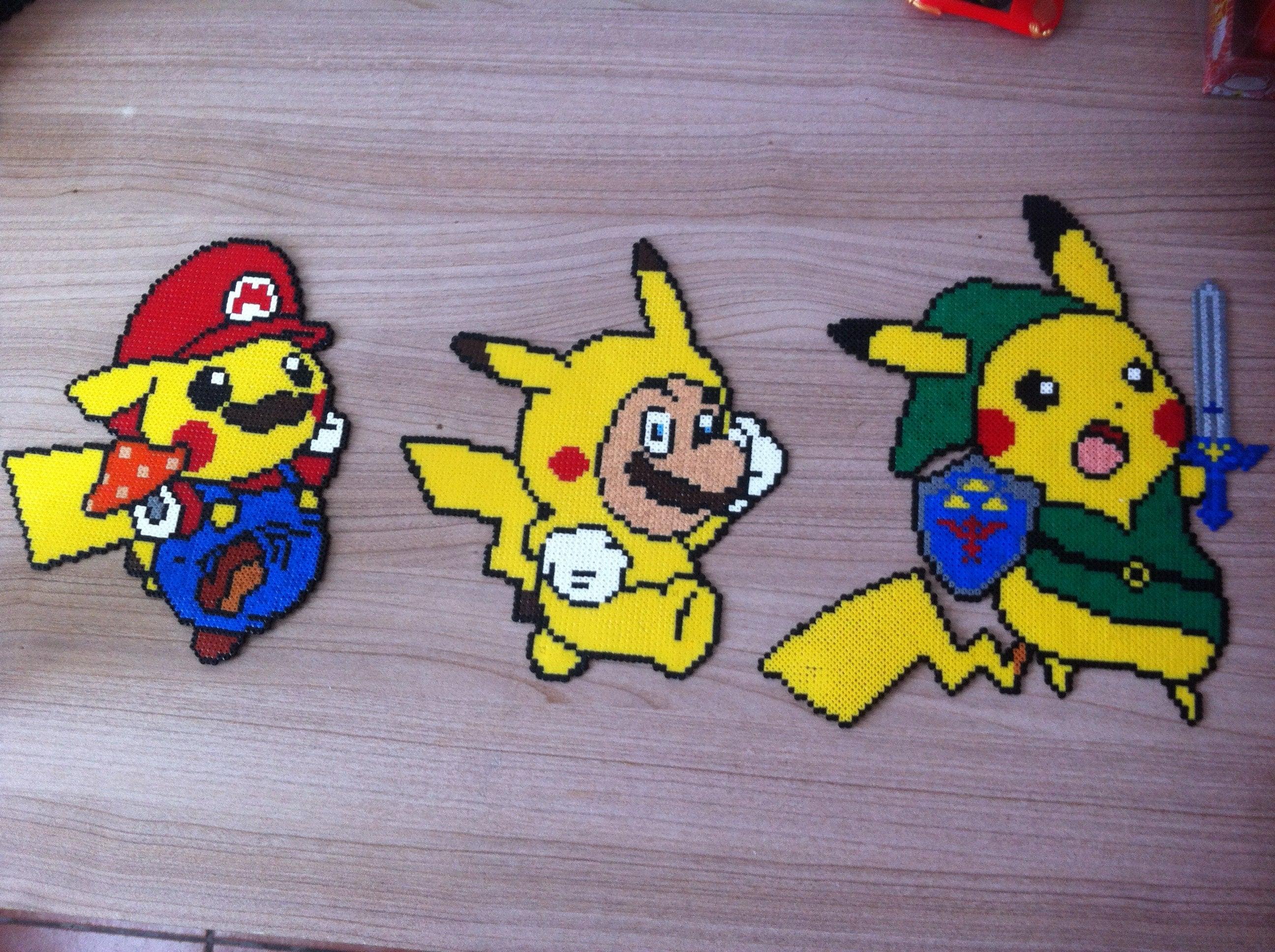 Pixel Art Pokemon Pikachu Lucario