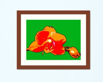 16 x 20 in. giclée - Orange Orchid