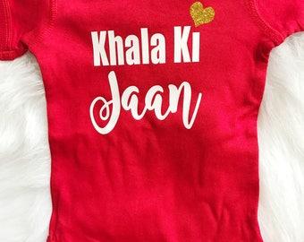 Khala  Ki Jaan baby bodysuit, aunt gift, i love my aunt, muslim baby, desi baby, islamic baby gift, newborn muslim baby, world's best khala