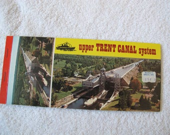 Upper Trent Canal System tear away Postcard / Lift Locks postcards / Trent Canal Locks / Trent Severn Waterway