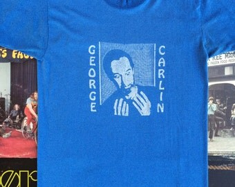 1980's Vintage George Carlin Double Sided Tee // It Only Hurts When I Think // Vintage Comedian