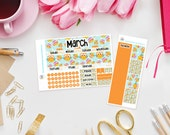 Owl Toot Toot - Monthly View Sticker Kit for Erin Condren Life Planners - Any Month Available - Sunday or monday week start