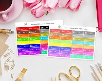 Daily Sleep Tracker Planner Stickers - perfect for Erin Condren Life Planner, Kikki K, Happy Planner, Kate Spade or Filofax Planner