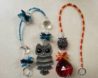Owl sun catchers