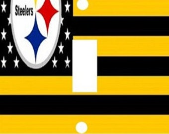 Decoupage Decorative Light Switch Covers-Made to Order- Pittsburgh Steelers Flag
