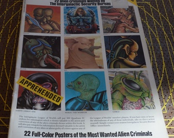 1980 WANTED Sci-Fi Poster Book