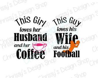 Honeymoon SVG / wedding svg / newlywed svg / newly wed svg / husband svg / wife svg / coffee svg / football svg / couples svg / vinyl crafts