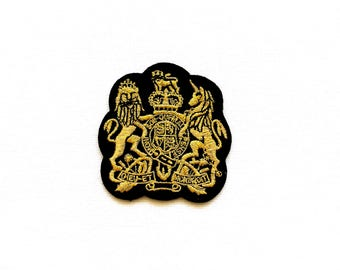 Royal coat of arms patch