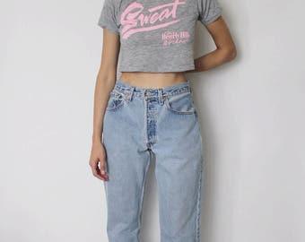 Vintage Levi's 501 Denim Jeans 29   Levis 501 High Waist Denim Jeans   Light Blue Denim Jeans